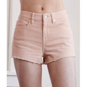 Kendall & Kylie High Rise Corduroy Cuttoff Shorts
